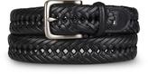 Tommy Hilfiger Black Braided Leather Dress Belt