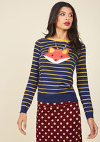 ModCloth Face the Fox Sweater in L