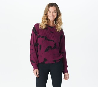 Lisa Rinna Collection Tie-Dye Pullover