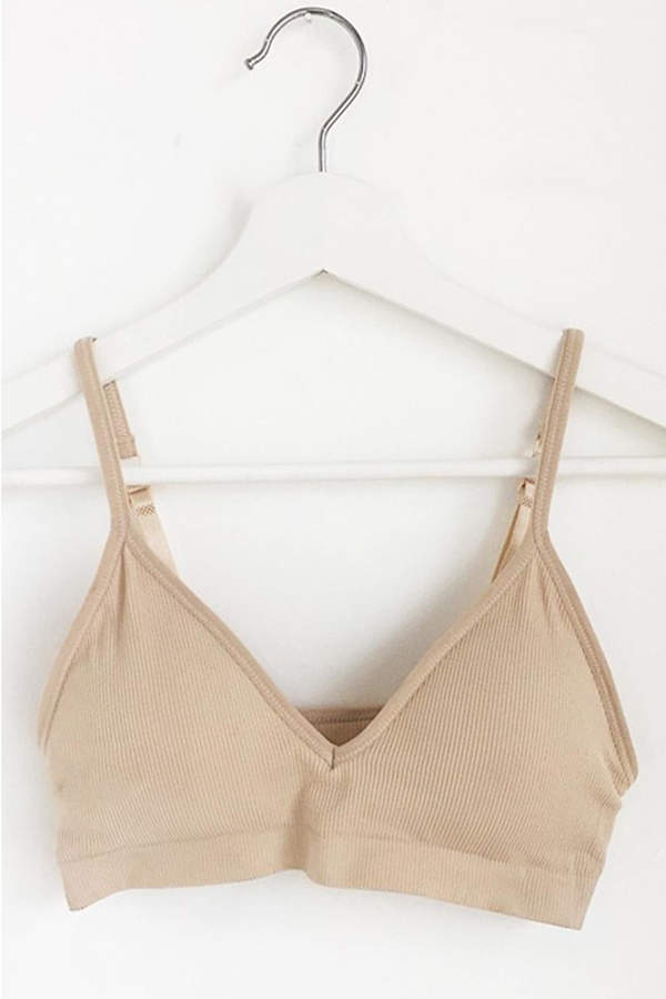 Anémone Comfortable Ribbed Bralette