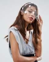 Asos Wedding Mini Floral Veil Headband