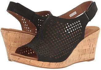 Rockport Briah Perf Sling (Black Nubuck) Women's Shoes