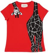 Gucci Giraffe Printed Cotton Jersey T-Shirt