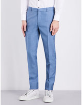 Alexander Mcqueen Regular-fit Mohair And Silk Blend Trousers
