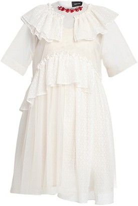 Simone Rocha Embellished Collar Tiered Frill Dress