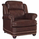 Asstd National Brand Beau Chair Faux Leather Roll-Arm Chair