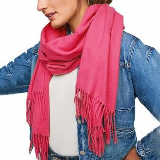 Musheng Scarf Long Scarf for Women Musheng Cashmere Double Tassel Long Scarf Unisex Pashmina Elegant Pure Color Virgin Shawl (E)