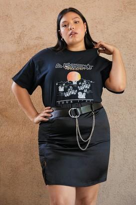 Nasty Gal Womens Never Stop Wandering Plus Graphic Tee - Black