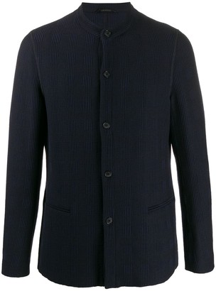 Giorgio Armani Round Neck Textured Jacket
