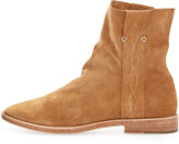 Joie Pinyon Suede Pull-On Bootie, Cognac