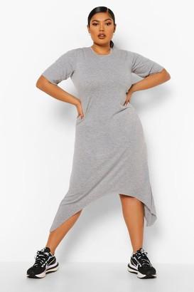 boohoo Plus Hanky Hem Swing Dress
