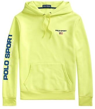 Polo Ralph Lauren Neon Fleece Drawstring Hoodie