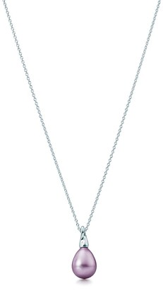 Tiffany & Co. Elsa Peretti Cat Island pendant in silver with a freshwater cultured pearl