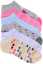 Kelly & Katie Women's Sunglasses No Show Socks - 6 Pack -Multicolor