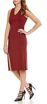 Armani Exchange V-Neck Ponte Dress