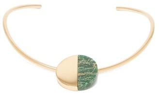Jil Sander Stone-embellished Choker Necklace - Green