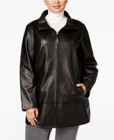 Jones New York Plus Size Leather Jacket
