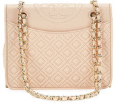 Tory Burch Fleming Medium Quilted Shoulder Bag, Pale Apricot