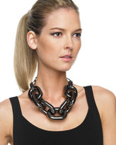 Chain Link Necklace, Gunmetal
