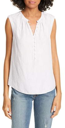 Rebecca Taylor Tailored by Floral Silk Blend Sleeveless Top