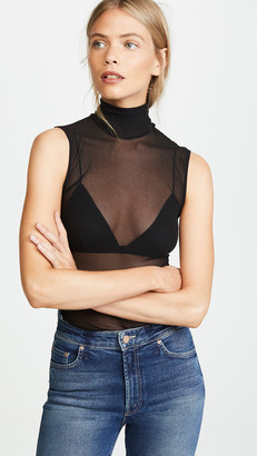 Only Hearts Tulle Turtleneck Tank