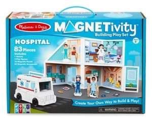 Melissa & Doug Magnetivity Hospital Building Wooden Playset