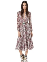 olivia palermo  Who made  Olivia Palermos pink floral long sleeve dress, lace up sandals, and plaid scarf that she wore in Melbourne?