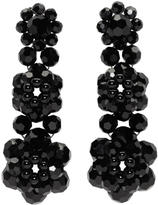 Simone Rocha Black Perspex Three Tier Drop Earrings