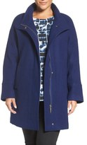 Ellen Tracy Wool Blend Stadium Coat (Plus Size)