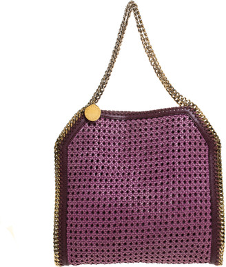 Stella McCartney Purple Woven Faux Leather Falabella Tote