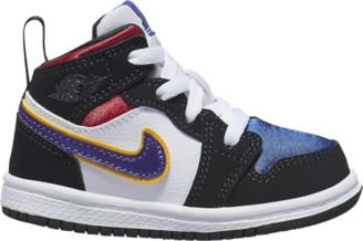 Jordan AJ 1 Mid SE Basketball Shoes - Black / Field Purple White