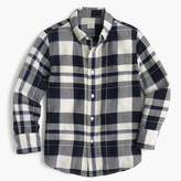 J.Crew Kids' lightweight flannel shirt in navy plaid