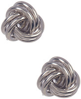 Candela Sterling Silver Love Knot Stud Earrings