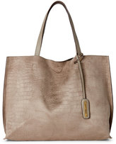 Street Level Stone Croc Embossed Reversible Tote