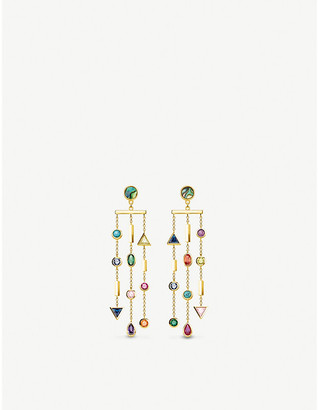 Thomas Sabo Paradise Cascade 18ct yellow gold-plated and jewel earrings