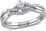 MODERN BRIDE 1/5 CT. T.W. Diamond Bridal Ring Set Sterling Silver