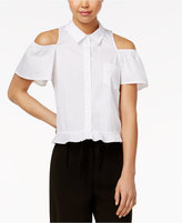 XOXO Juniors' Cold-Shoulder Blouse