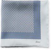 Brioni Solid-Edge Box Silk Pocket Square