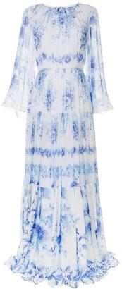 Ingie Paris Floral Print Pleated Dress