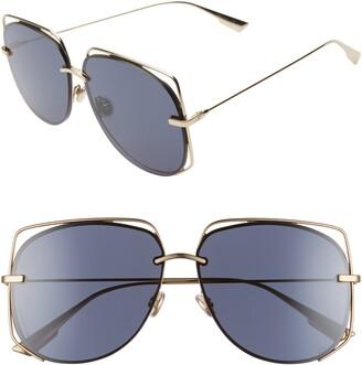 Christian Dior Stellair 61mm Aviator Sunglasses