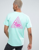 Huf T-shirt With Dimensions Back Print
