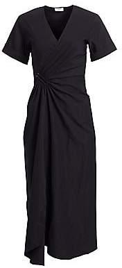 A.L.C. Women's Edie Linen-Blend Wrap Midi Dress