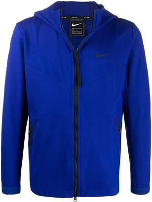 Nike zip-front hooded sweatshirt