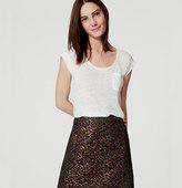 LOFT Petite Hydrangea Pocket Shift Skirt
