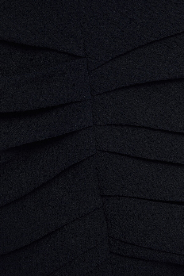 Thumbnail for your product : BA&SH Isa Gathered Textured Crepe Mini Dress