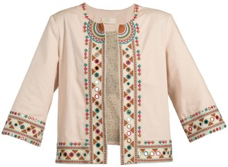 Souk Indigo Rowling Embroidered Jacket
