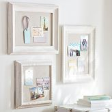 Wooden Eclectic Framed Pinboards, Set of 3, Distressed White