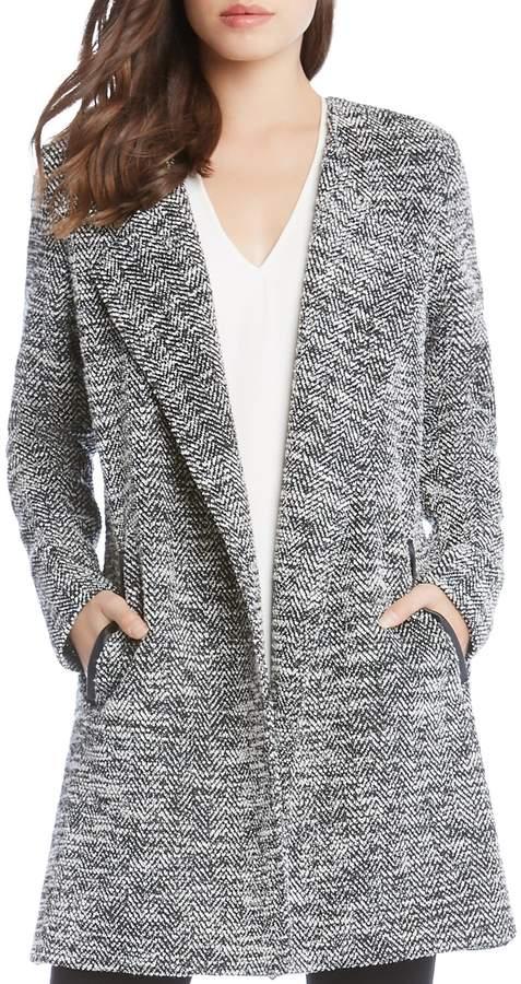 Karen Kane Chevron Tweed Jacket