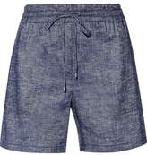 Theory Cortlandt Linen-Blend Chambray Shorts