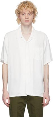 Visvim White Rayon Free Edge Shirt